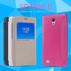 OPPO A11 JOY3 Nillkin Sparkle Leather Case  [Black Color]